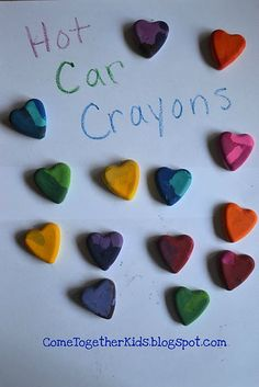 Crayons that Bake in your Hot Car