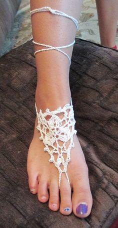 Crochet barefoot sandals by CrochetByVicky on Etsy, $15.00