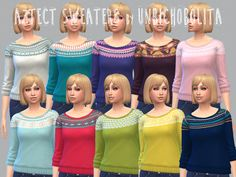 OK! It has come to my attention that the Aztec sweaters still had the shiny sleeves from the original texture. that happened basically because I play on low setting and that kind of details doesn't...