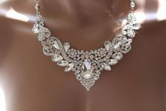 Bridal jewelry set Crystal Deco Nouveau Style by RainBling on Etsy