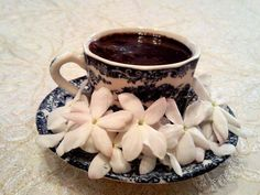Traditional Syrian morning coffee with the smell of jasmine flowers!