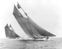 """"""" Ingomar and Elmina — 1908 """" … Schooner Yachts"""