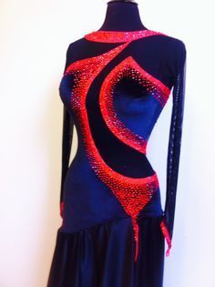 Black and Red Dance Dress Black Dance Smooth Dress Dance Smooth Dresses