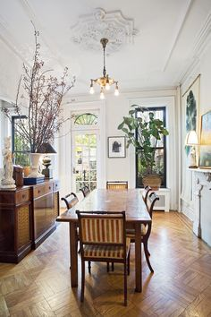 I love this! This is going to be our same layout and feel! It all works.  1890's Park Slope Brownstone | Fig Interior Design, New York
