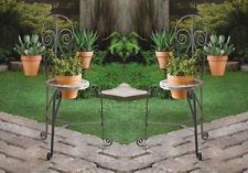 2 French Bristro Chair Planter Holds 3 Potted Plants Garden, Patio, Porch Decor