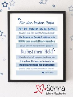 PDF *Papa * Für den besten Papa * Papi * Bester Papa * Vatertag * PDF Here I offer you a PDF, which you can print out yourself and which your child can then give away to Dad! * A very individual gift
