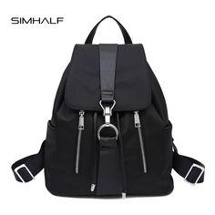 168c9b9243 SIMHALF New Brand 2017 Women Backpack Waterproof Nylon Lady Women's  Backpacks Female Casual Travel Bags mochila
