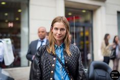 New post on http://www.styledumonde.com with #model Nadja Bender #NadjaBender @Nadja Bender after #Balmain #ss14 #fashionshow at #parisfashionweek #pfw #pfwss14 wearing Balmain leather quilted jacket with golden buttons, denim shirt  #leatherjacket @Balmain France #outfit #ootd ... street style streetstyle #streetstyle model, model off duty, danish model #streetfashion #streetchic #modeloffduty #fashion #mode #style #Paris #weloveit #picoftheday  #bestoftheday #lookoftheday. Photo by…