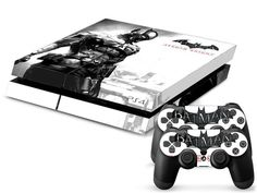 FREE SHIPPING! PS4 Batman Arkham Knight Decal Stickers Skin For Sony Playstation 4 Console  2 dualshock controllers
