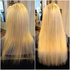 Before And After Di Biase Hair Extensions By Eric Vaughn What A Difference
