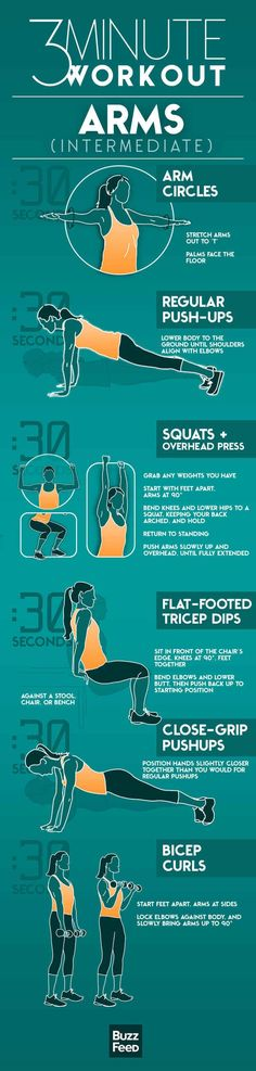 3 min arm workout! AWESOME #fitness #workout #healthy