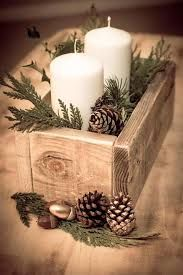 20 Magical Christmas Centerpieces Rustic Container Box Candle Decoration More from my site Elegant Christmas Table Centerpieces To Your Holiday Decor Planter Box Thanksgiving Centerpiece Magical Christmas, Noel Christmas, Winter Christmas, Country Christmas, Beautiful Christmas Decorations, Homemade Christmas, Christmas Candles, Christmas 2019, Fall Candles