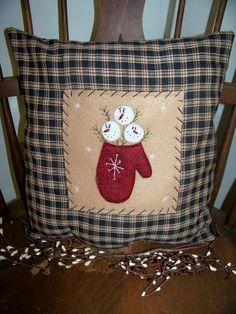 Primitive Snowman Crafts   Primitive Snowman Pillow   Craft projects