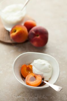 Fruit with Fromage Blanc and Spiced Honey via @Sylvie | Gourmande in the Kitchen