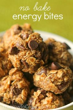 No Bake Energy Bites from The HowToCrew.com