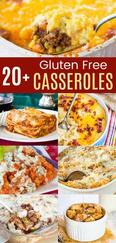 Best Gluten-Free Casserole Recipes - classics and modern twists on the hearty comfort food you crave with casseroles for breakfast, dinner, and even weeknight ad holiday side dishes! Gluten Free Recipes Side Dishes, Wheat Free Recipes, Gluten Free Recipes For Dinner, Healthy Gluten Free Recipes, Foods With Gluten, Dinner Recipes, Paleo, Gluten Free Casserole, Casserole Recipes