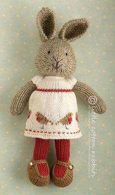 Avalyn, a knitted rabbit | littlecottonrabbits, via Flickr