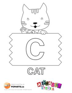 Alphabet Stories #coloring page