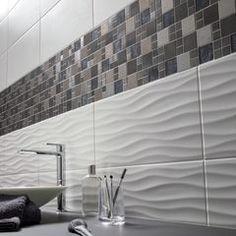 Faïence mur uni blanc mat x cm, Hawai wave, Bathroom Design Small, Simple Bathroom, Bathroom Interior Design, Interior Design Living Room, Bathroom Ideas On A Budget Modern, Chic Bathrooms, Bathroom Styling, Bathroom Renovations, Bathroom Inspiration