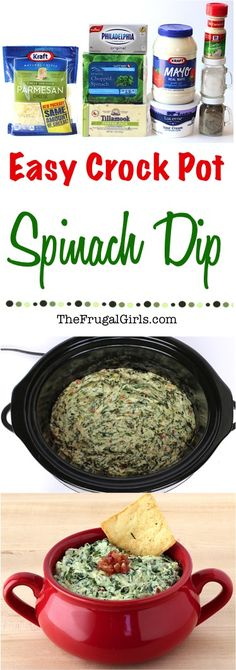 Easy Crock Pot Spinach Dip Recipe!  Creamy, rich and savory.  This Crock Pot Spinach Dip is going to give that old school spinach dip a kick in the pants.  And I blame the bacon!  It's perfect for your holiday parties and a must-have on Game Day! Go grab your Slow Cooker! Spinach Dip Recipes, Easy Spinach Dip, Spinach Dip Crockpot, Spinach Bacon Dip, Easy Dip Recipes, Spinach Chips, Homemade Spinach Dip, Creamy Spinach, Spinach Pasta