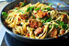 Italian Sausage, Kale and Roasted Tomato Pasta