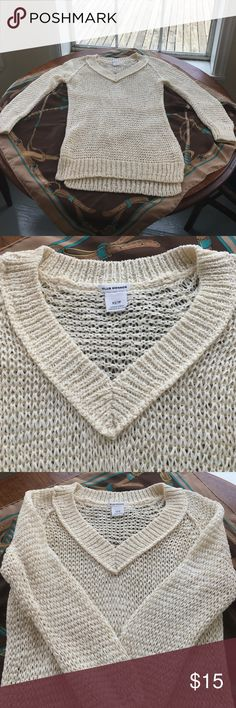 Club Monaco Sweater Super cute Club Monaco Sweater. Size X-Small. Cream colored. Open Weave Design. 66% Cotton/34% Polyamide. Measures approximately 15 inches lying flat across the chest. In good preowned condition with 1 pull noted at the bottom of the right sleeve (see photo 4). Please ask all questions prior to making an offer or purchase. Thanks for stopping by my closet! Club Monaco Sweaters V-Necks