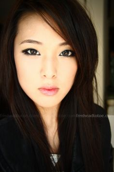 monolid makeup: i follow her youtube channel! She's so pretty :)