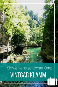"""The Vintgar Gorge is about 45 minutes from Lake Bled - an impressive gorge with what feels like shades of green, crystal-clear water and a light """"Lord of the Rings"""" feeling. Travel Route, Travel Usa, Holland Strand, Europa Tour, Lake Bled, Camping Photography, Road Trip Hacks, Camping Hacks, Backpacking Europe"""
