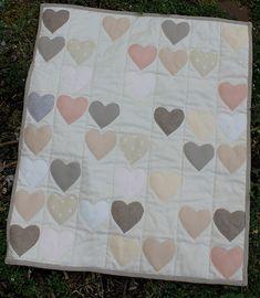 Linen Neutral Heart Quilt | Flickr - Photo Sharing!