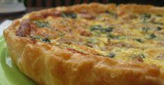 Cá em casa as quiches ou tartes salgadas são apreciadas tanto como entrada ou como refeição principal. Ingredientes: 1 placa de mass...