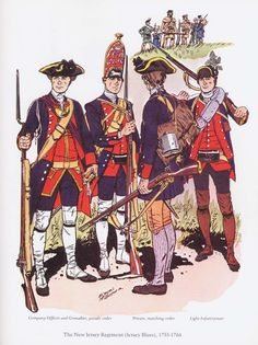 The New Jersey Regiment (Jersey Blues) 1755-1764.