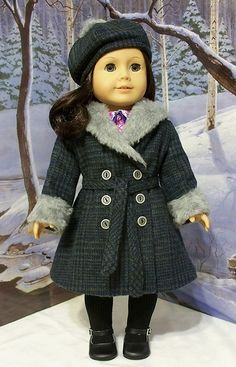 1930's Plaid wool Coat Hat~ Made for Ruthie or Kit