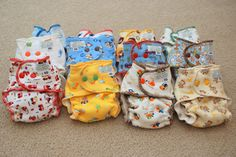 For the littlest little ones--how to make cute cloth diapers with covers.  This link has lots of helpful info, and links to several patterns.