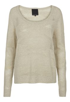 Here's a basic jumper with a twist, the texture in this knit adds interest to a pale grey jumper, a true wardrobe stable