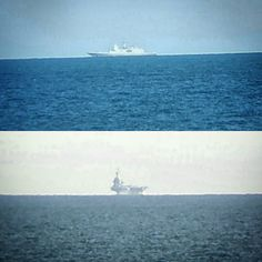 A dosis of reality.... I think this is part of the task force against ISIS maybe aircraft carrier Charles de Gaulle? And a German frigate? Sorry about the quality of the image... #offshoresickness #frigate #aircraftcarrier #topsecret #offshorelife by sebastian_salvia