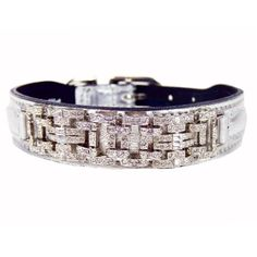 Hartman  Rose Haute Couture Dog Collar 10 to 12Inch Deco Silver Metallic -- Check out this great product. (This is an affiliate link) #DogCollars