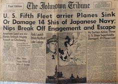 The Johnstown Tribune - World War II: June 22, 1944: U.S. Fifth Fleet Carrier Planes Sin...