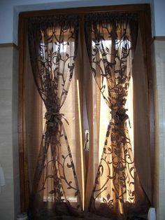 finestra tenda vetro porta finestra increspata a palloncino tenda a ...