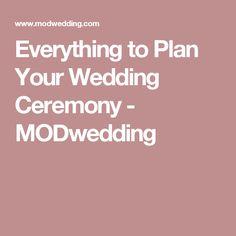 Everything to Plan Your Wedding Ceremony - MODwedding