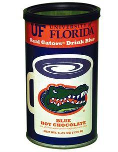 Gators Blue Hot Chocolate....GO GATORS!