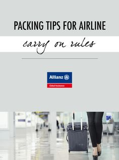 Packing tips for airline carry-on rules