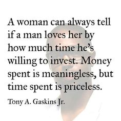 Time is invaluable...