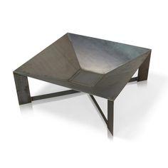 Braciere LINCOLN in acciaio, di forma quadrata, per giardino, terrazza ed esterni: Amazon.it: Giardino e giardinaggio