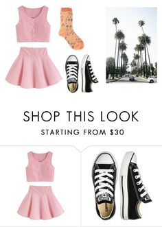 """Untitled #13249"" by jayda365 ❤ liked on Polyvore featuring Converse, Antipast and IWearPinkFor"