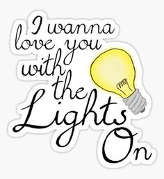 Lights On Lyric - Shawn Mendes Sticker