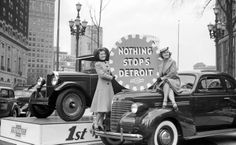 """""""Nothing Stops Detroit"""" Chevrolet ad - Photo from the Walter P. Reuther Library, Wayne State University"""