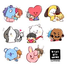 Image about bts in fanart by sad babe on we heart it Bts Chibi, Bts Drawings, Dragon Drawings, Line Friends, Fan Art, Bts Fans, Drawing Challenge, I Love Bts, Kpop Fanart