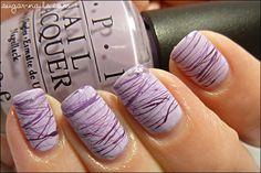 Stringing nail polish technique
