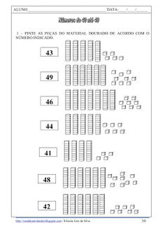 Espaço Carol Educar: Material dourado, antecessor e sucessor e cálculo mental Place Value Worksheets, Math Place Value, Place Values, Teaching Social Studies, Teaching Math, Math For Kids, Activities For Kids, Tens And Ones, Math Strategies