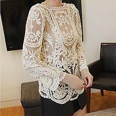 侯&女性のレースの刺繍かぎ針編みのカットワーク薄手生き抜くtong® – JPY ¥ 1,422
